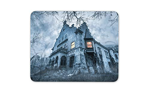 Haunted Hill House Scary Mansion Mauspad Pad - Teen Spook Computer-Geschenk # 16191