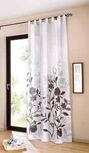 vorhang mit motiv trend eleganz deko schal. Black Bedroom Furniture Sets. Home Design Ideas