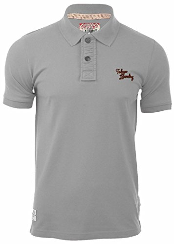 TOKYO LAUNDRY SOPHOMORE MENS COTTON BUTTON UP CASUAL POLO T-SHIRT TOP 1X3523A Light Grey Marl XL