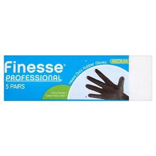 Finesse Professionelle Heavy Duty Gummi-Handschuhe Medium - 5 Paar