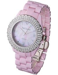 Yves Camani Damen-Armbanduhr Yves Camani Damenuhr Nancy Pink Analog Quarz YC1011-A
