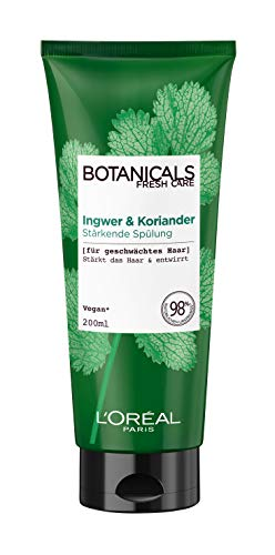 Botanicals Stärkende Spülung, ohne Silikon für feines geschwächtes Haar, mit Ingwer und Koriander, stärkt das Haar und entwirrt, 1er Pack (1 x 200 ml)