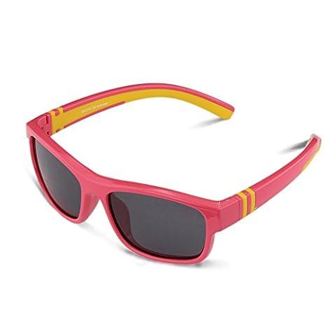 Duco Kinder Sonnenbrille Polarisierte Sportbrille für Jungen und Mädchen (Rosa 003 Für Alter 5-12)