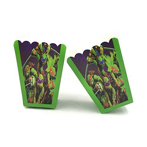 Tyro Popcorn-Box für Teenage Mutant Ninja Turtle Partyzubehör, Geschenkbox, Zubehör, Geburtstag, Party-Dekoration