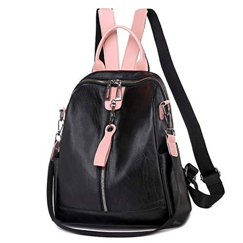 Ncenglings Damen Rucksack Nylon Handtaschen Mode Daypack Solide Wild Umhängetasche Anti Diebstahl und Wasserdicht Reiserucksack S Elegant Freizeitrucksack Rucksackhandtaschen (I#Schwarz, A)