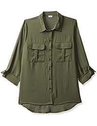 ONLY Women's Plain Regular Fit Shirt