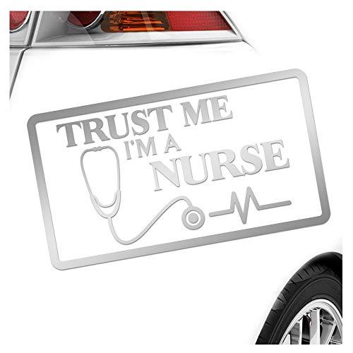 Kiwistar Trust me, im a Nurse Aufkleber Sticker 25 Farben Neon Matt -