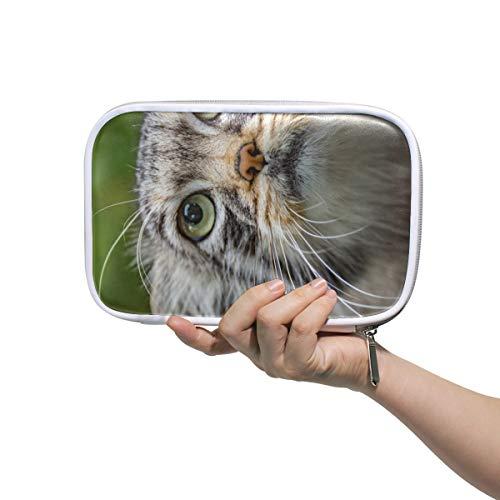 FAJRO Make-up-Tasche mit großer Kapazität, für Stifte und Stifte, saugfähig, süße Katze, Büro, College, Mädchen, Erwachsene, große Aufbewahrung.