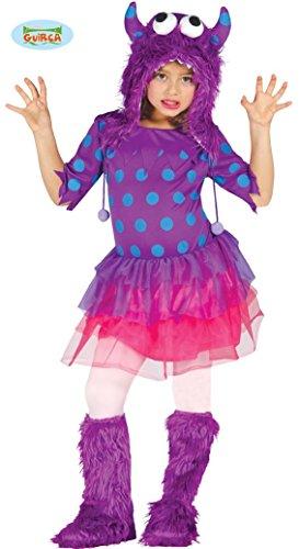 Lila Monster Kostüm für Mädchen Gr. 98 - 146, (Monster Halloween Kostüme Mädchen)