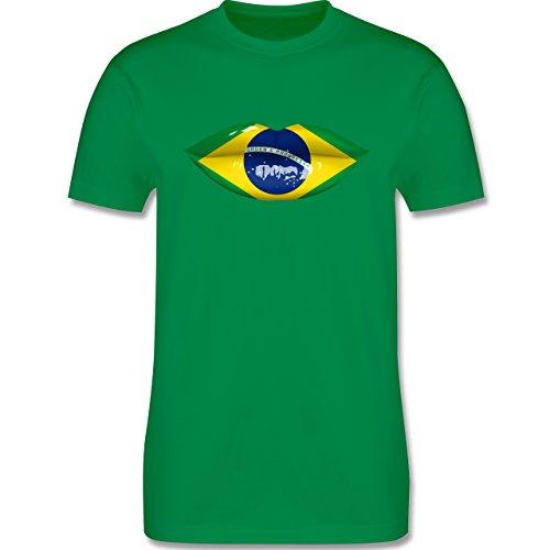 Länder - Lippen Bodypaint Brasilien - Herren Premium T-Shirt Grün