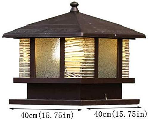 Lámpara de poste de puerta retro de estilo europeo lámpara de pared a prueba de agua villa jardín...