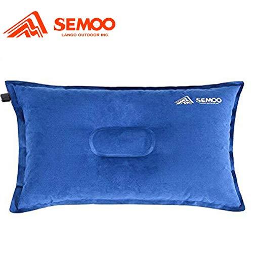 Semoo aufblasbares Kissen für Camping, selbstaufblasend, komprimierbar, leicht verstaubar/Ideal zum Wandern/Reisen