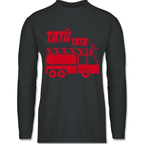 Feuerwehr - Tatü Tata - Longsleeve / langärmeliges T-Shirt für Herren Anthrazit