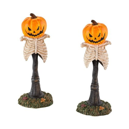 Department 56 4025405 Halloween Accessories for Dept 56 Village Collections Creepy Pumpkin Street Lights Lights 4.92-Inch by Department 56