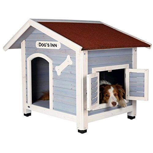 Trixie | natura Hundehütte Dog's Inn mit Satteldach hellblau/weiß | L 107 x B 93 x H 90 cm - 3