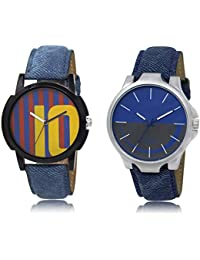 The Shopoholic Blue Maroon Grey Combo Treny And Precious Blue And Maroon And Grey Dial Analog Watch For Boys Watch...