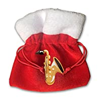 Music Saxophone Kids Christmas Drawstring Pouches Candy Jewelry Gift Bags