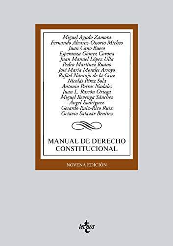 Manual de Derecho Constitucional (Derecho - Biblioteca Universitaria De Editorial Tecnos)