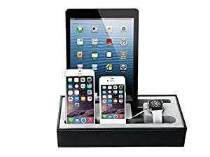 cojoie apple armbanduhr st nder schwarz universal multi device ladestation dock kabel organizer. Black Bedroom Furniture Sets. Home Design Ideas