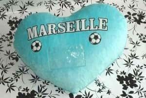 Peluche géante coeur Marseille 60 X 80 cm env. 136 - Poids 1600g Grosses peluches