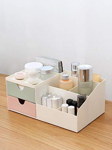 Cosmética de escritorio Caja de almacenamiento Dispensador Lápiz labial Hogar Plástico Cajón Cuidado de la piel Estante Tocador