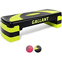 Gallant Aerobic Step - Height Adjustable Exercise Stepper | 3x Height Level 10cm, 15cm & 20cm Steps Raise Platform Steppers Board Box Block | Excellent Home Gym Fitness Workout Equipment - 78cm x 28cm