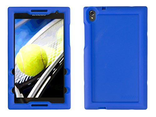 BobjGear Bobj Silikon-Hulle Heavy Duty Tasche für Lenovo Tab S8-50 Schutzhulle (Blau)