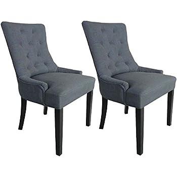 MY-Furniture POSITANO Esszimmerstuhl mit Ring - Grau