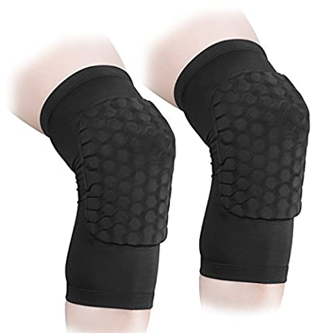 ANZOME 2 Packs (1 paire) Vêtements de compression de protection - Hommes et femmes Support de basket-ball - Best to Immobilized, Strap & Wrap Knee for Volleyball, Football, Contact Sports