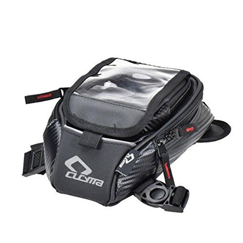 D DOLITY 1 Stück Universal-Motorrad Tankrucksack Leder und Satteltaschen für alle Arten von Motorrädern