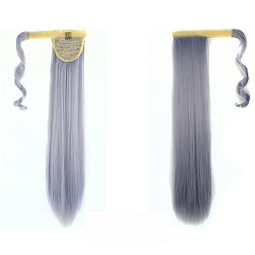 Bad Perücke Girl Blonde (Tianya 1pc Frauen Clip in Hair Extensions Lange Gerade Pferdeschwanz Perücken, I,)