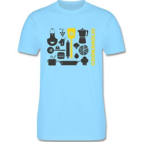 Küche - Cookaholic - Herren Premium T-Shirt Hellblau