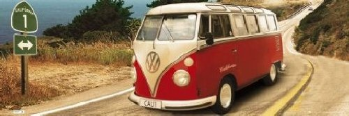 Poster 'VW Camper - Route One', Dimensione: 91 x 30 cm