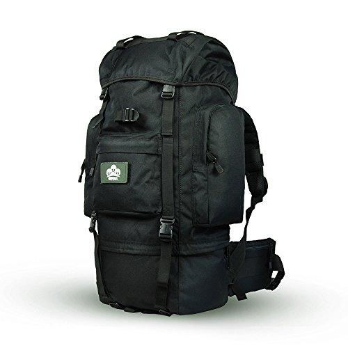 Trekkingrucksäcke,Skysper 50L 60L 65L 70L Hohe Qualität Wasserdicht Outdoor Sports Travel Wanderrucksäcke Trekking rucksäcke 65L-Schwarz