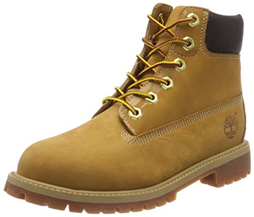 Timberland Unisex Kids 6 In Premium Waterproof Classic Boots, Yellow (Wheat Yellow), 13.5 Uk (Youth)(32.5 Eu)