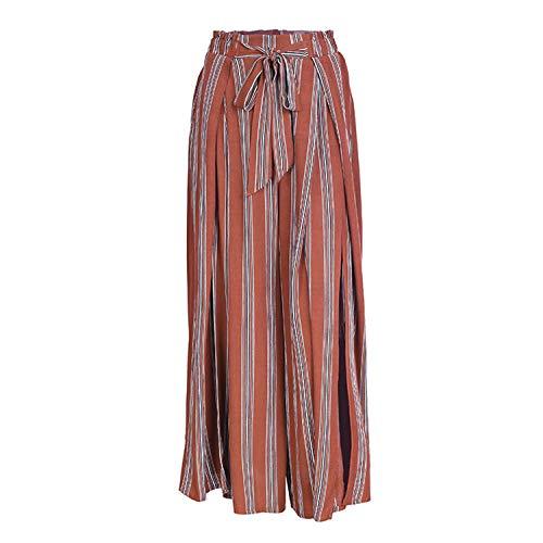 Split Striped Lady Wide Leg Pants Women Summer Beach High Waist Trousers Chic Streetwear Sash Casual Pants Capris Female Stripe3 Stripe3 Obermeyer Capri