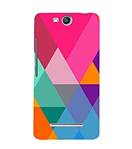 Graphic Color Pattern 3D Hard Polycarbonate Designer Back Case Cover for Micromax Canvas Juice 3 Q392