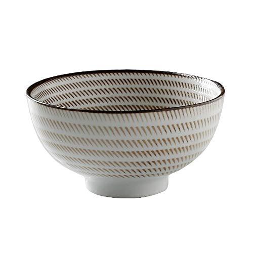 RKY Bol- Bol à soupe en céramique de bol de riz en céramique de style japonais et le vent rétro à la maison de vaisselle sous-glaçure -3 styles, 3 tailles /-/ (Couleur : C, taille : 11 * 6cm)