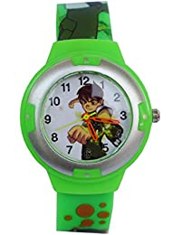 VITREND (R-TM) Ben-10 New Round Dial Watch - For Boys & Girls ( Sent As Per Available Colour)