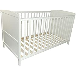 PuckDaddy lit bébé 70x140cm, transformable dans un lit d'enfant