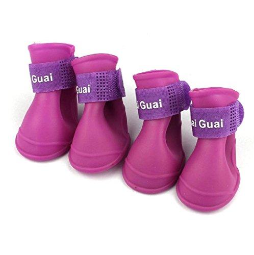 sannysis-botas-para-perros-impermeable-zapatos-de-lluvia-para-mascotas-purpura-s