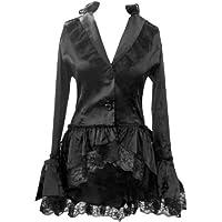 Satin Corsetto trambusto Giacca in pizzo Gotico Steam-Punk Vittoriano Vintage Fancy Dress taglie 8–28