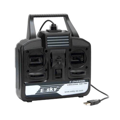 Esky 4 Kanal USB-Flugsimulator-Set RC Hubschrauber und Flugzeug Flugsimulation