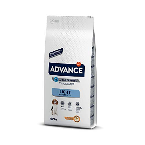 ADVANCE Medium Light +8 Monate Hundefutter, 12kg, 1er Pack (1 x 12 kg) -