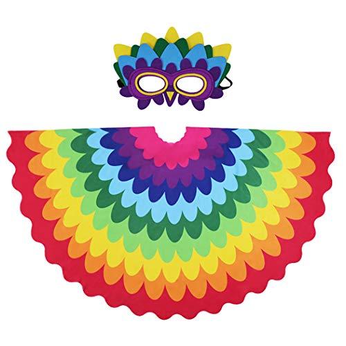 Joyibay Kinder kreative Fee Vogel Flügel mit Maske Halloween Kostüm Verkleiden Sich Kostüm Set