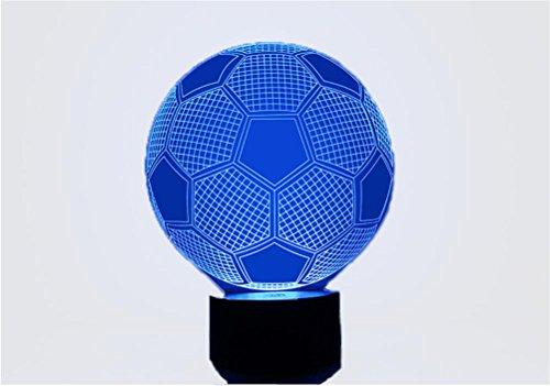 GJY LED ILUMINACIÓNLuz De La Noche 3D Del Fútbol 1.5W Luces Coloridas Creativas Del Led