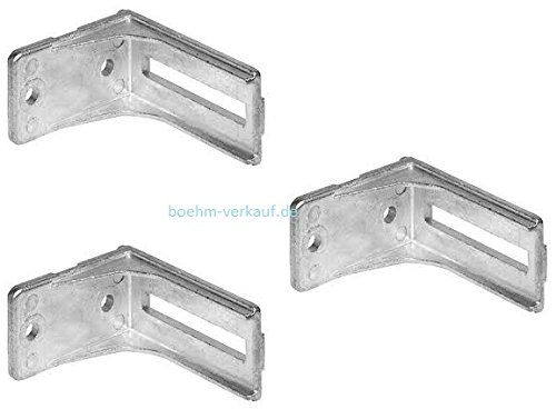 3 x Novoferm Rollenbock für Sektionaltor GSZ/GST, 40er FKS, links/rechts. Art.Nr. 30101000.