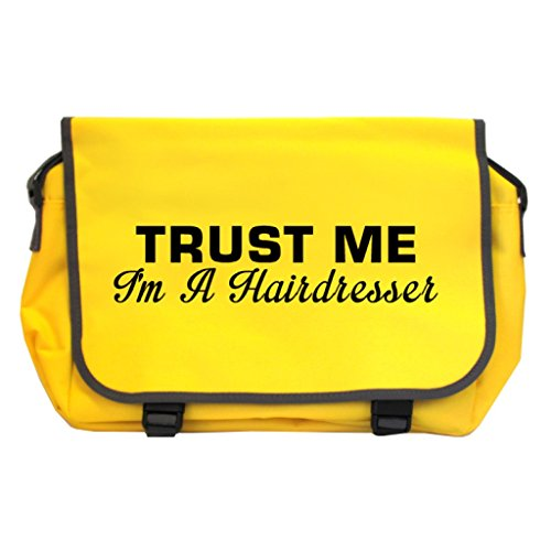 Price comparison product image Trust Me I'm A Hairdresser Messenger Bag - Sunflower Yellow