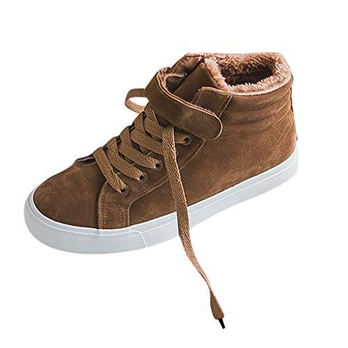 HDUFGJ Damen High-TopSchuhe Bottom Canvas Schuhe Casual Warm Sneaker Sneaker Atmungsaktiv Socken Schuhe Laufschuhe Mode Outdoor-Schuhe Freizeitschuhe 39 EU(Khaki)