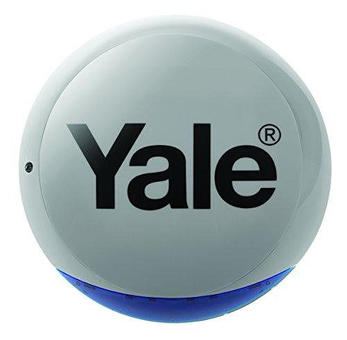Yale SR-BX-Gray - Sirène Extérieure Flash 104dB Grise - Auto-protection - Compatible avec Alarme Yale SR